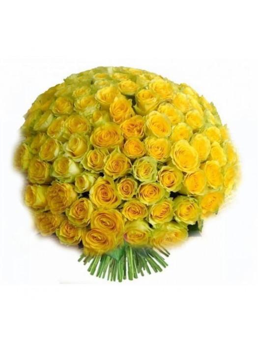 Поръчай Букет от 101 Жълти Рози - най-евтини цени на 101 рози