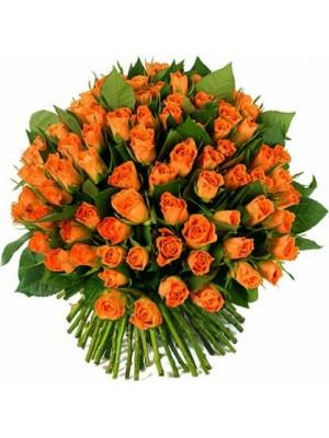 Букет от 101 Оранжеви Рози