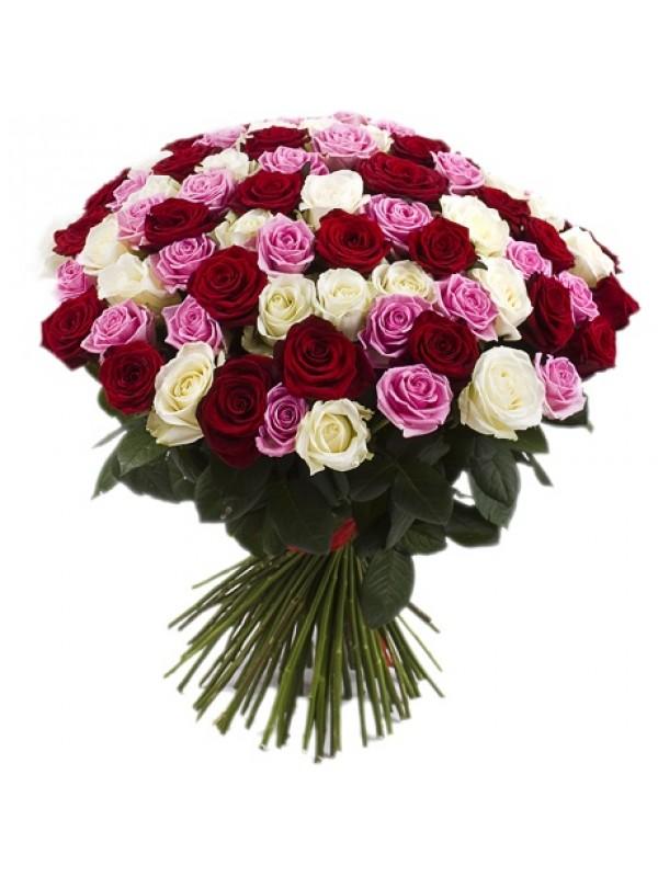 Поръчай Букет от 101 Рози Микс - на невероятната цена от 199.99
