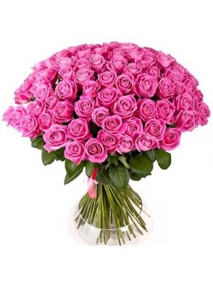 Букет от 101 Розови Рози