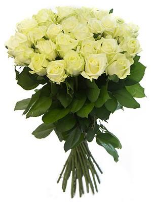 Букет от Бели Рози без опаковка