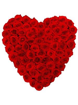 Сърце от 101 Червени Рози