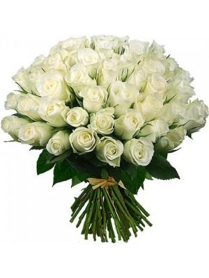 Букет от 51 Бели Рози
