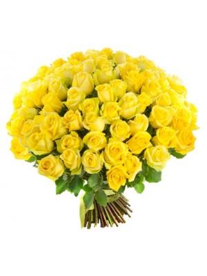 Букет от 51 Жълти Рози