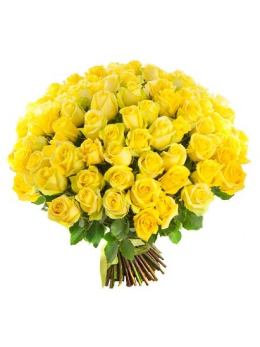 Поръчай Букет от 51 Жълти Рози - безплатна доставка в София и Пловдив