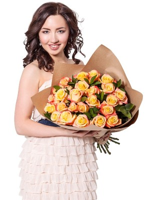 25 Yellow Roses Bouquet