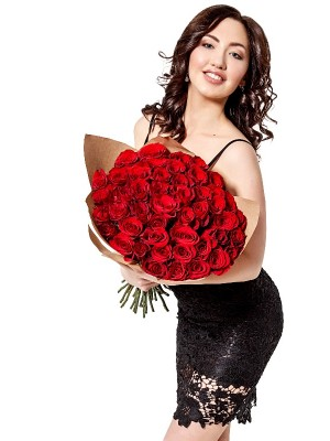 51 Red Roses Bouquet