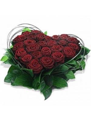 Сърце от 25 Червени Рози - 2