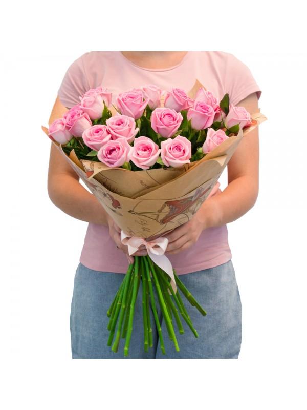 Поръчай Букет от 51 Розови Рози - безплатна доставка в София и Пловдив