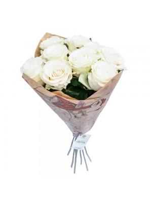 Букет от 9 Бели Рози