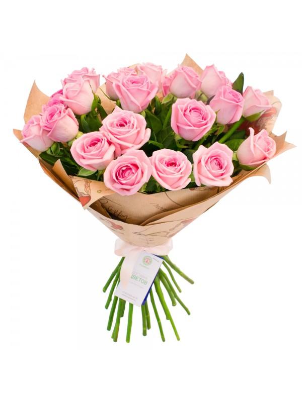Букет от Розови Рози с опаковка на невероятната цена от 32.99 лв