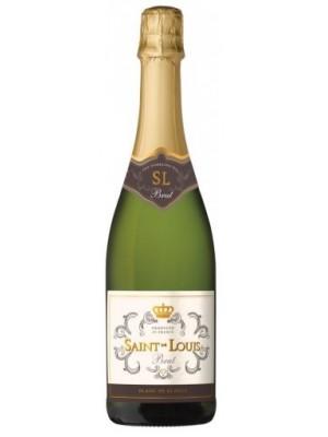 Пенливо вино Сен Луи Блан Дьо Блан Брут 0.75 л. Франция в луксозна подаръчна кутия