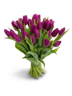 Букет от Виолетови лалета